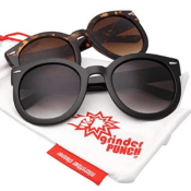Amazon: 2 Pack Oversized Round Frame Dark Lens Sunglasses $18.99 (Reg....