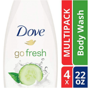 Amazon: 4-Pack Dove Sulfate Free Body Wash, Cucumber and Green Tea as low...