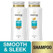 Amazon: Pantene Shampoo with Argan Oil, Pro-V Smooth and Sleek Frizz Control,...