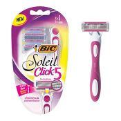 Amazon: BIC Soleil Click 5 Women's 5 Blade Disposable Razor, 1 Handle 3...