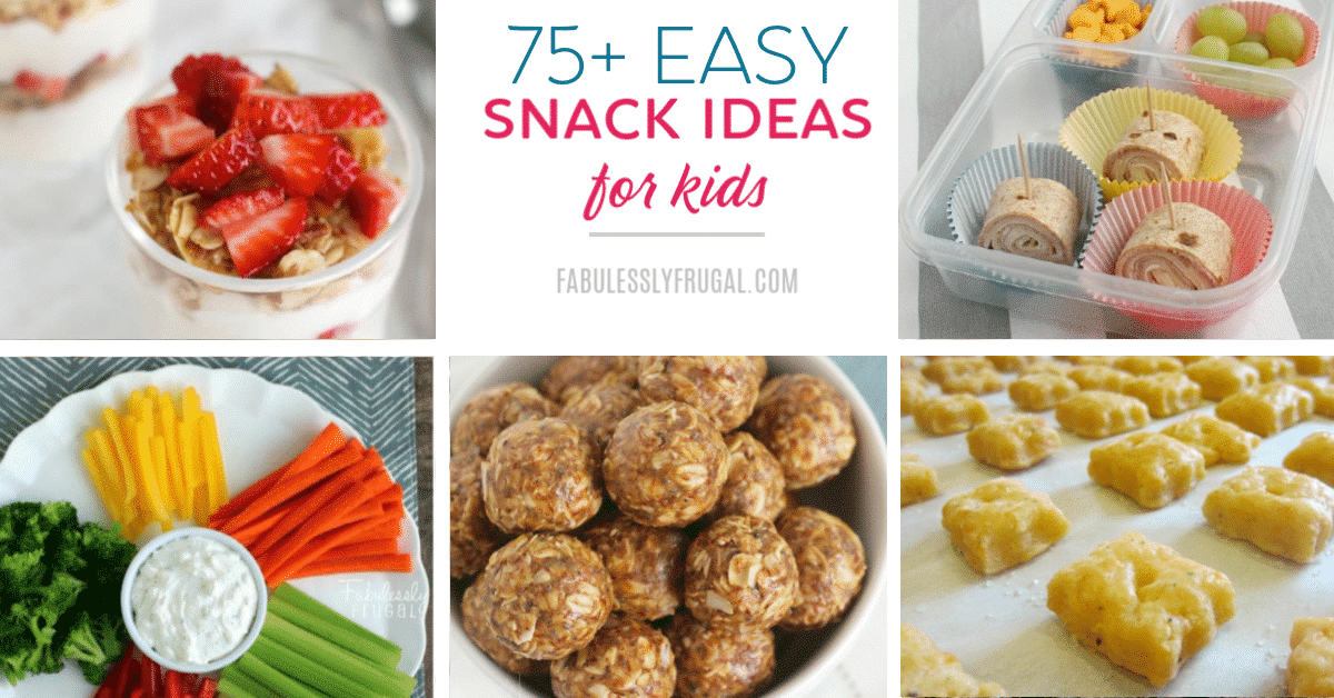 Healthy snack ideas for kids!