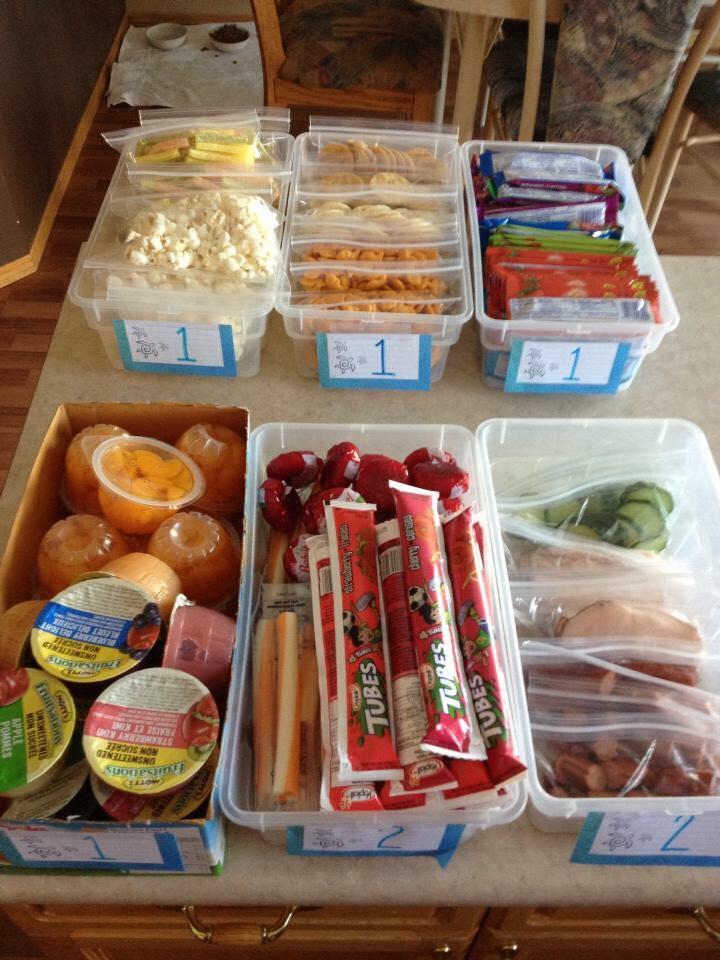 Cold lunch ideas bins