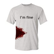 Amazon: I'm Fine Graphic Novelty Sarcastic Zombie Funny T Shirts $16.99...