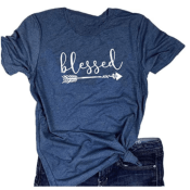 Amazon: Women's Blessed Tees from $17.98 (Reg. $23+)