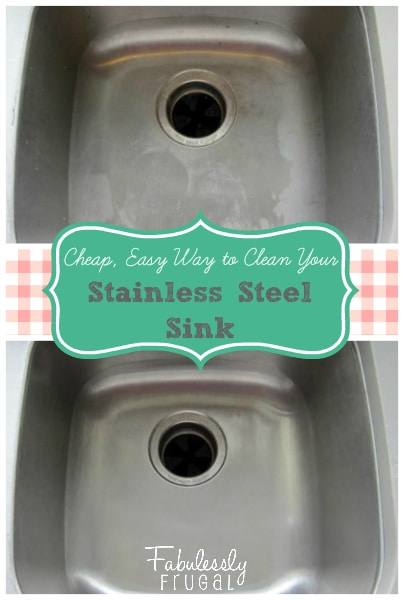 How to clean stainless steel sink stains