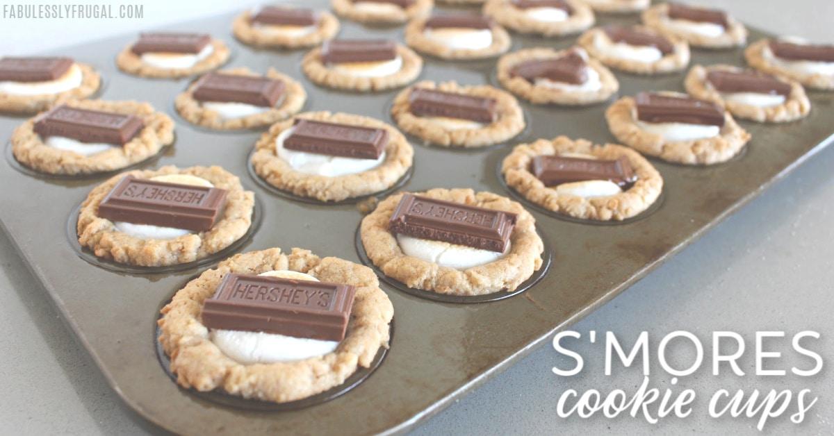 Smores cookie cups recipe
