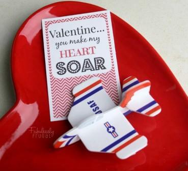 you make my heart soar airplane free valentine printable