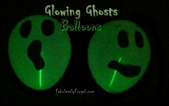 Glowing ghosts Balloons