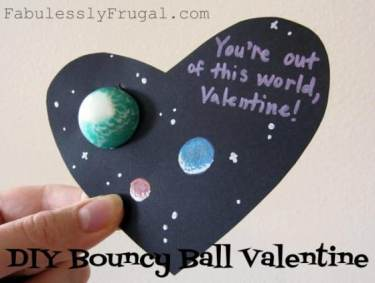 bouncy ball planet homemade valentine cards