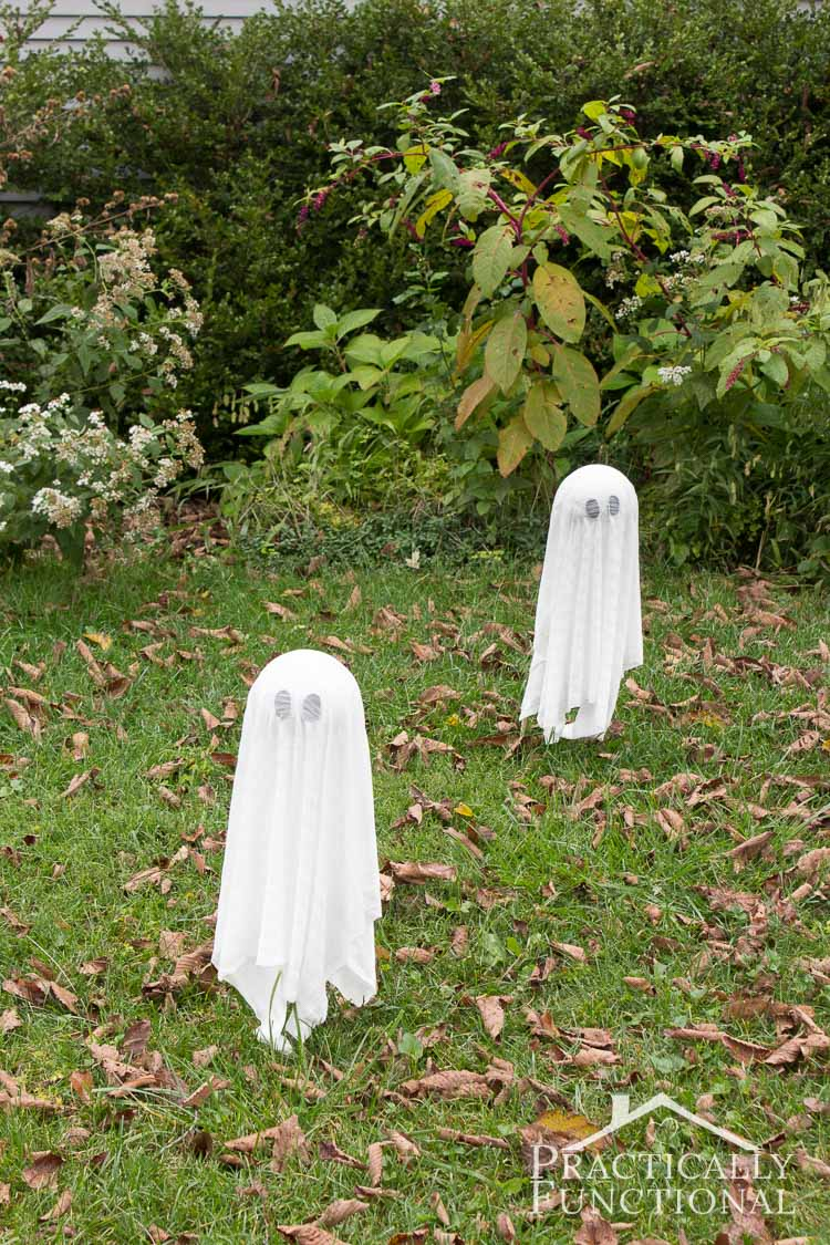 Floating Halloween ghosts
