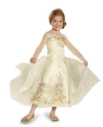 Disney Cinderella Movie Wedding Dress Deluxe Kids Costume