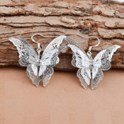 Amazon: Filigree Butterfly Earrings $2 + Free Shipping
