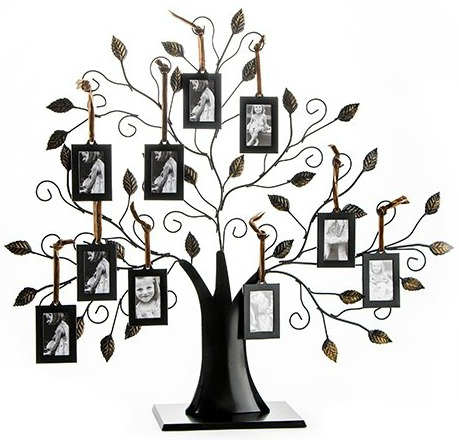 Klikel Family Tree Picture Frame With 10 Hanging Picture Frames