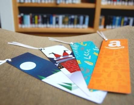 amazon gift card bookmarks