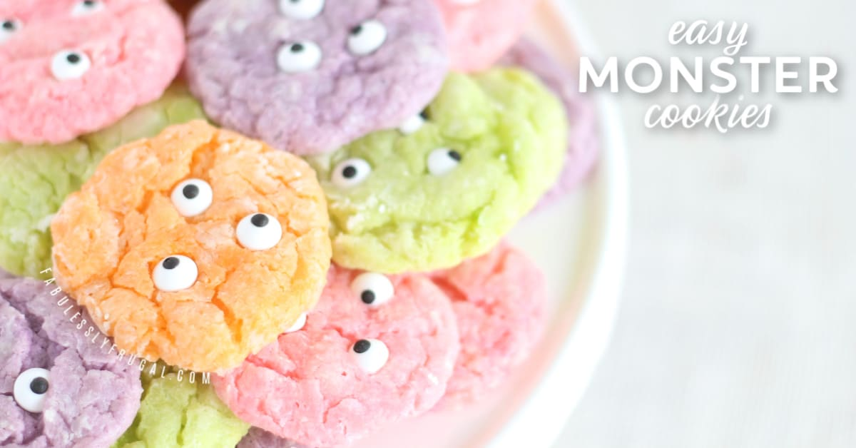 Easy Halloween monster cookies