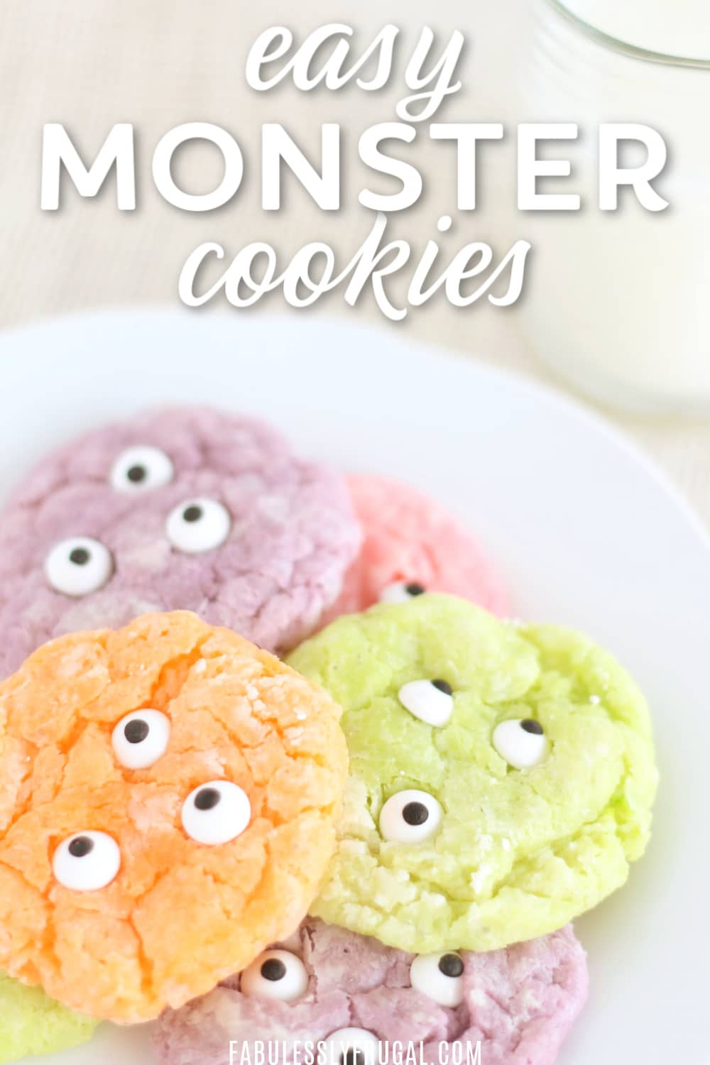 Easy monster eye cookies