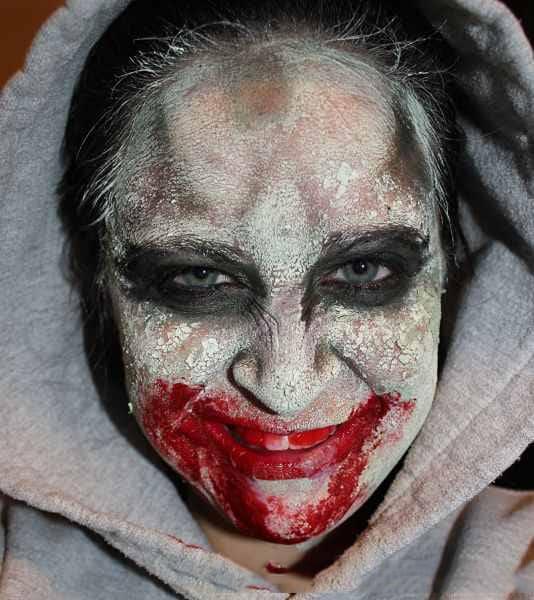 Finished DIY zombie mask