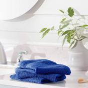 Amazon: Pack of 12 AmazonBasics Fade-Resistant Cotton Washcloths Navy Blue...