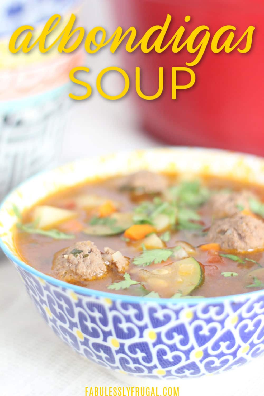easy albondigas soup