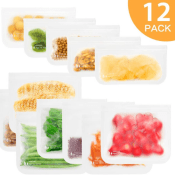 Amazon: 12 Pack Reusable Storage Bags $6.99 After Code (Reg. $14.99) -...