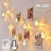 Amazon: 32.8ft 80 LED Crystal Ball String Lights $7.65 After Code (Reg....