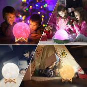3D Moon Lamp with 16 LED Colors Under $10 - Save 60% on this FAB Gift Idea