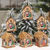 Set of 3 LED Lighted Wooden Christmas Ornaments $7.49! You Save 50%