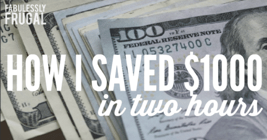 How I saved $1000 in 2 hours