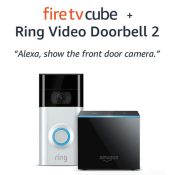 Amazon Black Friday! Fire TV Cube bundle with Ring Video Doorbell 2 $218.99...