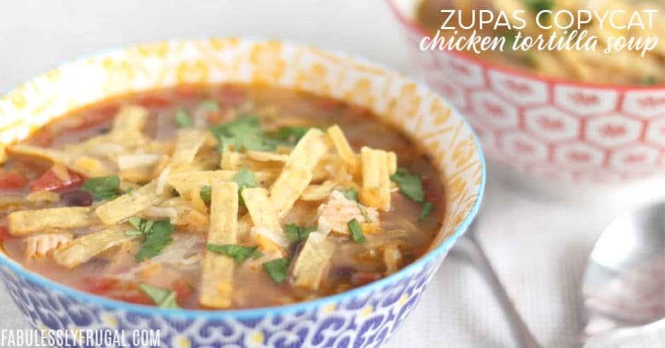 Bowl of zupas soup