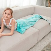 Amazon: Mermaid Tail Blanket Plush for Kids in Mint or Pink as low as $9.99...