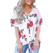 Amazon: Cute Short Sleeve V Neck Loose Blouse as low as $7.99 After Code...