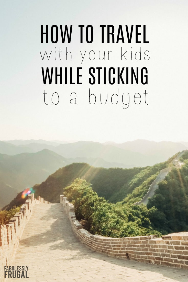traveling with kids on a budget