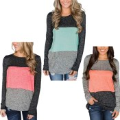 Amazon: Women's Casual Color Block Long Sleeve $14 After Code (Reg. $27.99)...
