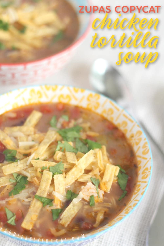 Zupas chicken tortilla soup recipe