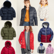 Today Only! Old Navy Cyber Week! $15 Frost-Free Puffer Jackets For Kids...