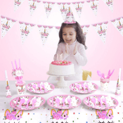 Amazon Holiday Deal! 16 Style 90 Pack Unicorn Party Supplies $9.75 After...