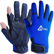 Amazon: 2 Cut Fingers Flexible Non-Slip Touchscreen Fishing Gloves $8.80...