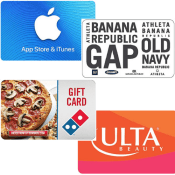 TODAY ONLY! Amazon: 20% off eGift Cards (Domino's, GAP, Ulta and iTunes...