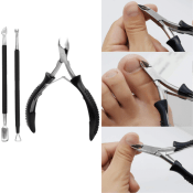 Amazon Holiday Deal! 3 Pieces Anti-slip Cuticle Nipper Set $5.39 After...