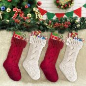 Amazon Holiday Deals! 4 Pack Cable Knit Christmas Stockings, 18 inches...