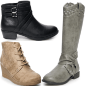 Last Day! Kohl's Cyber Deal! Girls Boots as low as $15.17 with Deal Scenario...