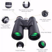 Professional HD Telescope Binoculars for Concerts, Hunting and More - Just...