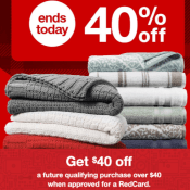 Target Cyber Week! Today Only! 40% off Bed & Bath, Up to 50% off Toys +...