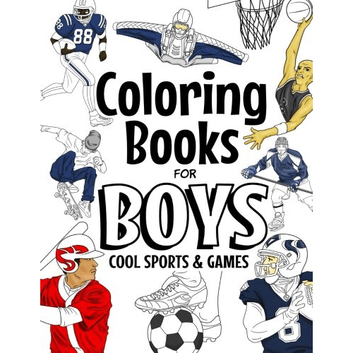 Amazon Holiday Deal! Coloring Books For Boys Cool Sports And ...
