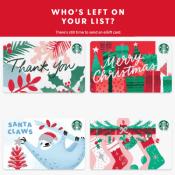 Starbucks: FREE $10 eGift Card w/ $10 eGift Card Purchase via Mastercard