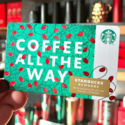 Hurry! Starbucks Cyber Week: FREE $5 Starbucks Gift Card w/ $20+ eGift...