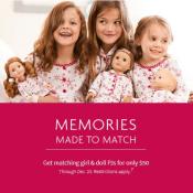 American Girl: Matching Girl & Doll Pajamas $50 (Reg. $90)