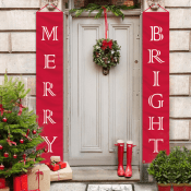 Amazon: Merry Bright Porch Sign $11.19 After Code (Reg. $15.99) -FAB Ratings!
