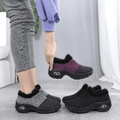 New Women's Knitted, Furry Lined Sneakers $26.39 after Code (Reg. $52)...